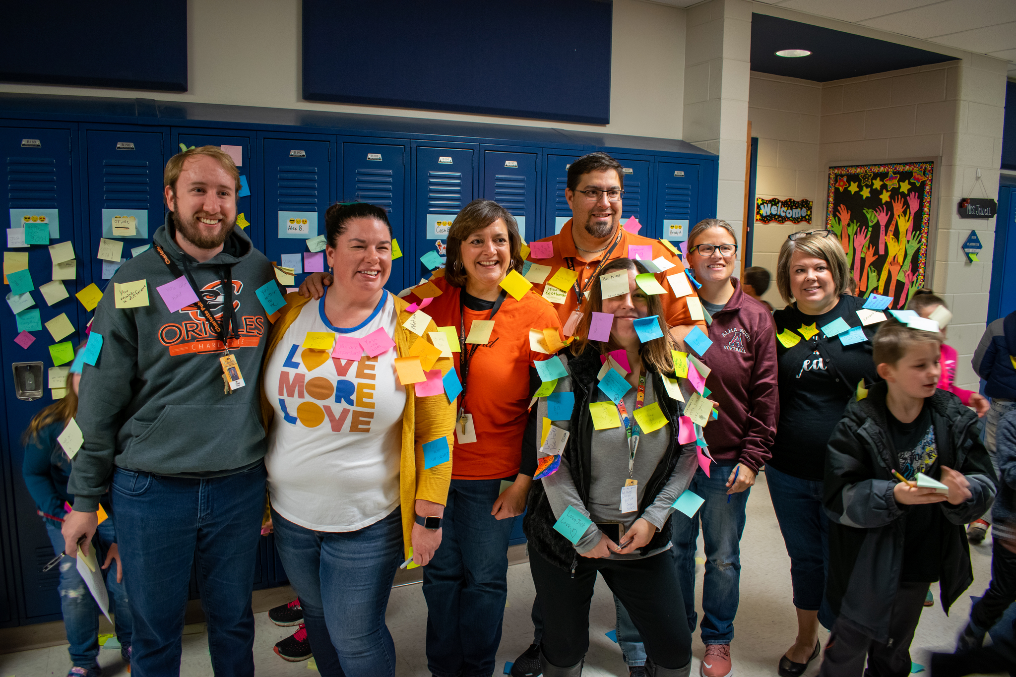 Positive Post-it Day teachers