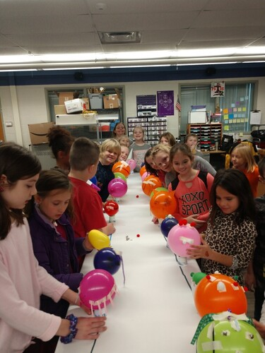 Parkview students participating in a STEM project